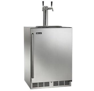 24-Inch Dual Faucet Signature Beer Dispenser Wood Overlay Door Left Hinge