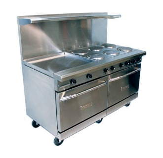 60 Electric Range- 6 Burners, 2 Ovens and 24 Griddle