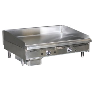 48 Heavy Duty Thermostatic Gas Griddle with 3/4 Plate