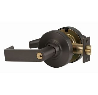 Entry Function Turn//Push-Button Locking Satin Bronze Finish Rhodes Lever Design Schlage commercial ND53PDRHO612 ND Series Grade 1 Cylindrical Lock
