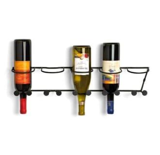 Horizontal Wall Mount Wine Rack 5 Bottle