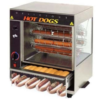 Broil-O-Dogs 19 1/2 Hot Dog Broiler with Bun Warmer