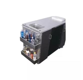 "61"" Serving Cart with 2 Towel Bar Handles, Ice storage, Bottle Opener"
