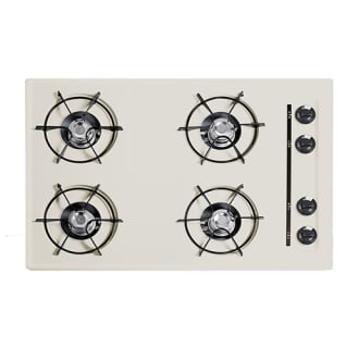 30 Four-Burner Gas Cooktop in Bisque