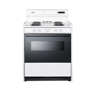 "30"" Freestanding Electric Range with Black See-Thru Door, Clock with Timer"