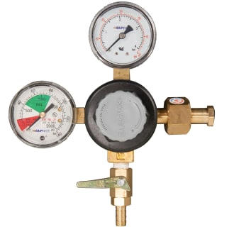 Primary Double Gauge CO2 Beer Regulator with Check Valve