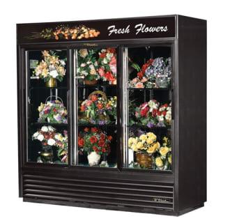 69 Cu. Ft. Three Glass Sliding Door Floral Case