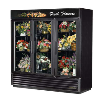 72 Cu. Ft. Three Glass Sliding Door Floral Case