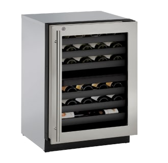 43 Bottle 24 Built-In Wine Captain Dual Zone Wine Cooler with Lock