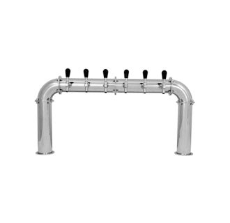 6 Faucet Arcadia Stainless Steel Beer Tower - Glycol Cooled