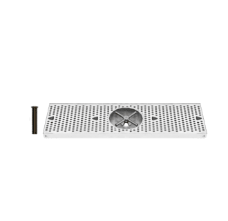 24 Inch StainleSurface Mount Drip Tray with Rinser