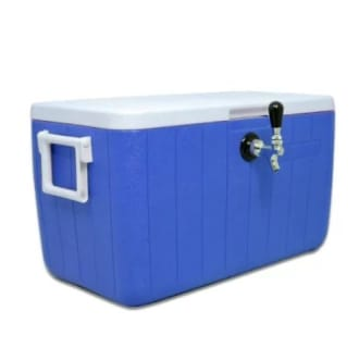 Single Faucet 48 Qt Jockey Box 5/16 O.D. 70 Foot Coil Red