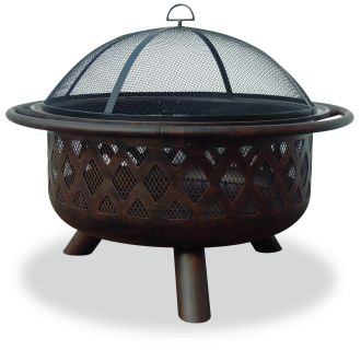 """32"""" Outdoor Firepit with Criss-Cross Design"""