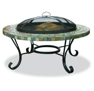 Slate Tile / Copper Outdoor Firebowl