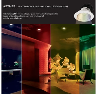 Wac Lighting R3aswt Acc24 Wt White Aether Color Changing 3 12 Led