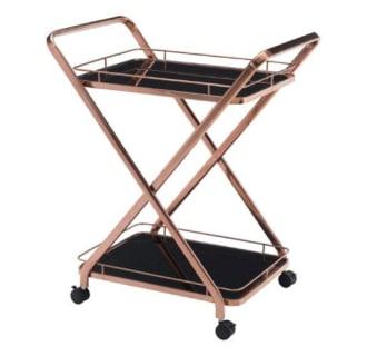 Vesuvius Serving Cart - Rose Gold