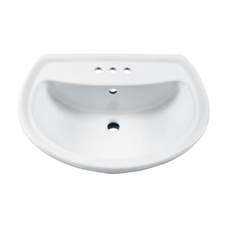 American Standard 0451 021 020 White Corner Minette 11 Wall Mounted Porcelain Bathroom Sink Faucetdirect Com