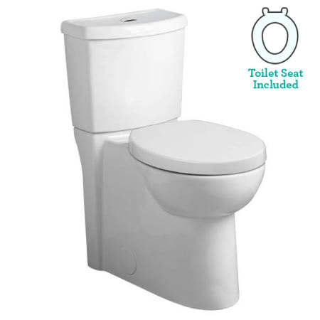 American Standard 2794.204.020 White Studio Elongated Two-Piece DUAL ...