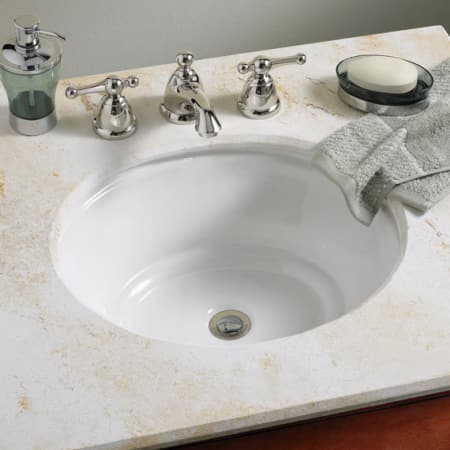 American standard white tudor 17 undermount - American standard undermount bathroom sinks ...