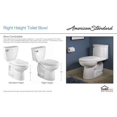 American Standard 2891 128 222 Linen Boulevard Elongated