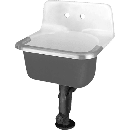 American Standard 7695 008 020 Akron Wall Mounted Cast Iron Utility Sink