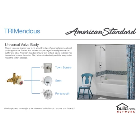 American Standard T385 508 002 Polished Chrome Reliant Tub