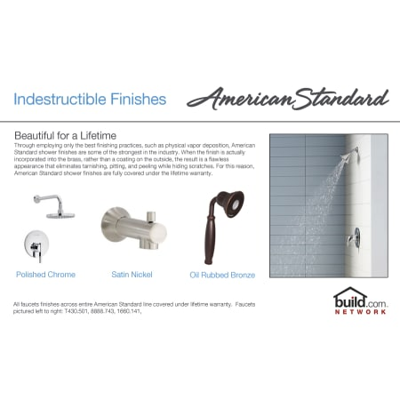 American Standard T555 501 002 Chrome Town Square Shower