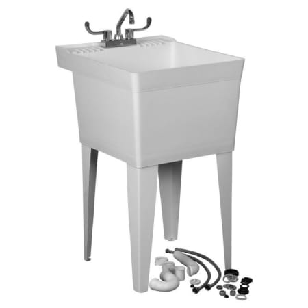 american standard tat1100 white fiat 20 free standing polyethylene utility sink with faucet p. Black Bedroom Furniture Sets. Home Design Ideas