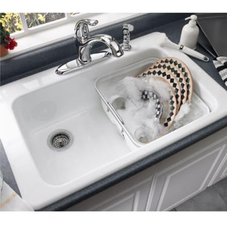 American Standard 7193 804 345 Bisque Single Basin