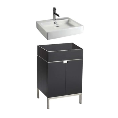 American Standard White Studio 22 Free Standing Vanity Set With Espresso Finish