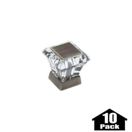 amerock bp29460cas 10pack acrylic antique silver abernathy 1 1 16 inch long square cabinet knob. Black Bedroom Furniture Sets. Home Design Ideas