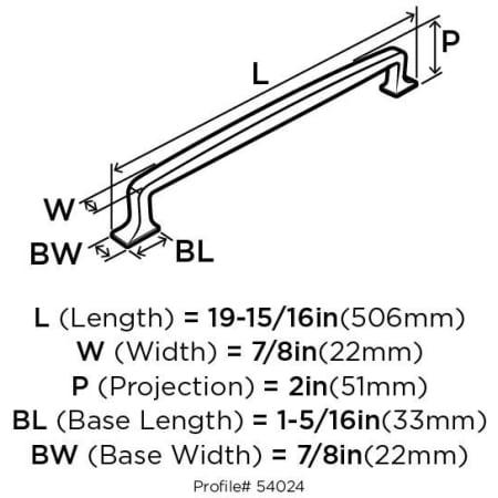 A large image of the Amerock BP54024 Amerock-BP54024-Dimensions