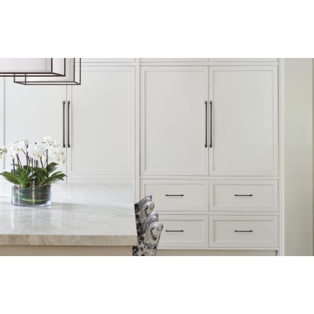 A large image of the Amerock BP54024 Amerock-BP54024-Oil Rubbed Bronze on White Cabinets