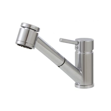 AquaBrass 20343 Brushed Nickel Tapas Pullout Spray Kitchen Faucet ...