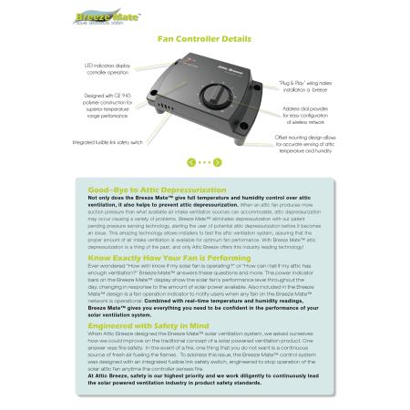 Attic Breeze Cs 11d N A Solar Attic Fan Controller For