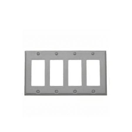 Baldwin 4742150 Satin Nickel Beveled Edge Solid Brass Quad