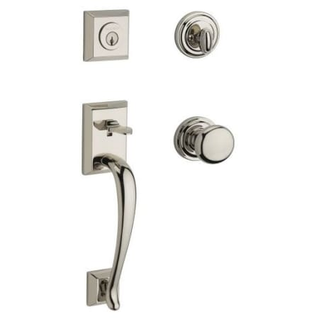 baldwin scnapxroutrr141 polished nickel napa single cylinder handleset with traditional round. Black Bedroom Furniture Sets. Home Design Ideas