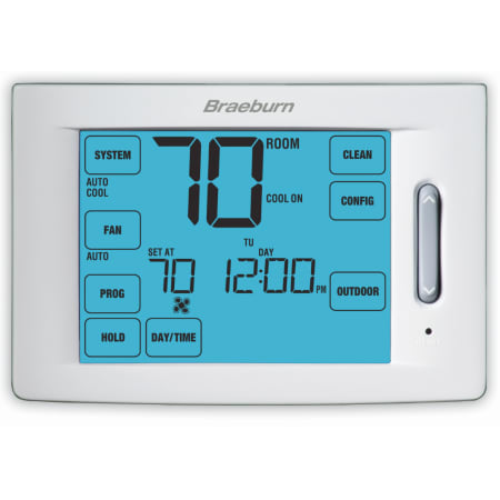 Touchscreen 5 2 Programmable Thermostat With 12 Square Inch Area Display And 4 Stage Heating Cooling