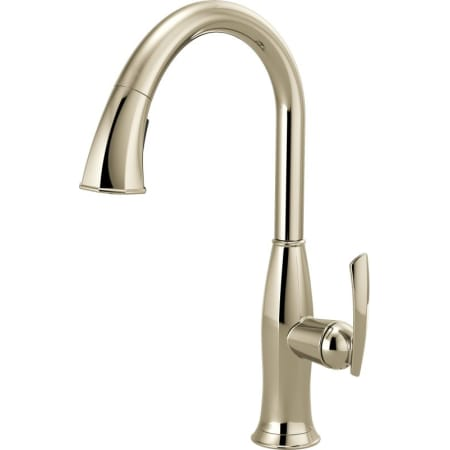 magnetic kitchen faucet brizo 63096lf pn brilliance polished nickel coltello pull 14093