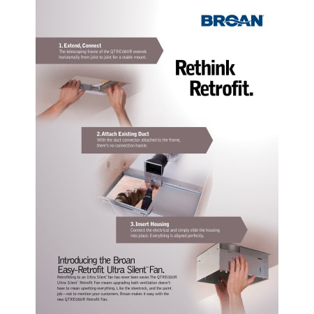 Broan Qtre080r White 80 Cfm 0 8 Sone Ceiling Mounted