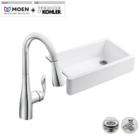 Build Smart Kits K 6489 M7594srs Spot Resist Stainless Faucet Combo