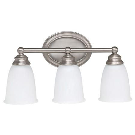 Capital Lighting 1083mn 132 Gu Matte Nickel 3 Light Bathroom Vanity Fixture