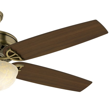 Casablanca 54025 Antique Brass Concentra 54 Quot 5 Blade Ceiling Fan Blades And Light