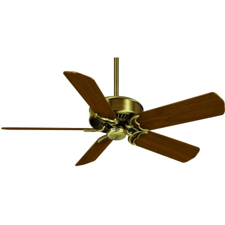 Casablanca 6644z Antique Brass 50 5 Blade Ceiling Fan With Multiple Blade Options Wall Control Included Lightingshowplace Com