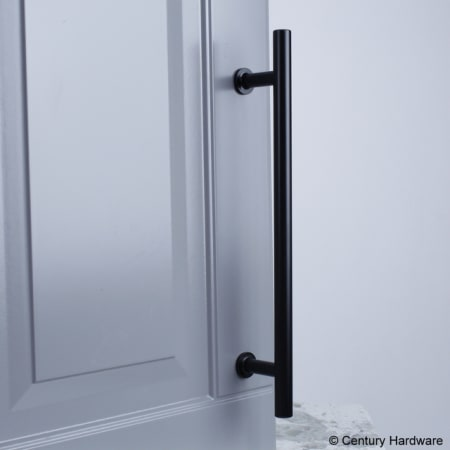 A large image of the Century 10479A Century-10479A-Matte Black installed
