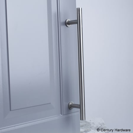 A large image of the Century 10479A Century-10479A-Matte Satin Nickel installed