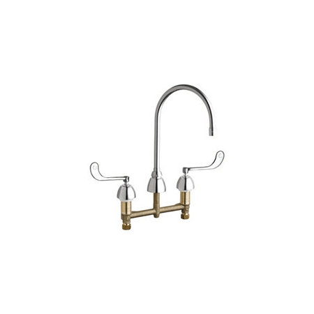 Chicago faucets 201 agn8ae35 319ab chrome commercial grade for Eco friendly faucets