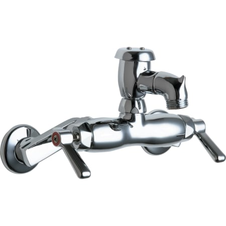 Chicago Faucets 305-VBCP Chrome Wall Mounted Service Sink Faucet ...