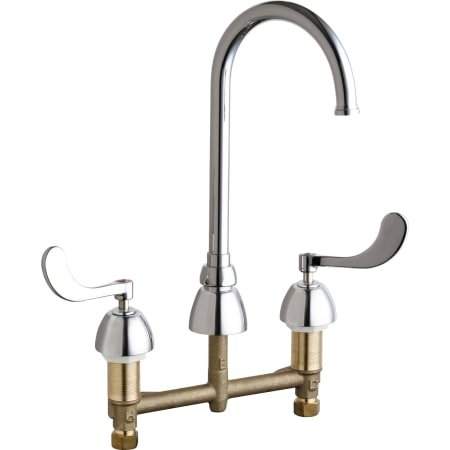 Chicago faucets 786 gn2fcabcp chrome commercial grade high for Eco friendly kitchen faucets