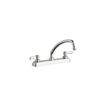 commercial grade kitchen faucets chicago faucets w8d l9e1 369abcp chrome commercial grade centerset kitchen faucet with lever 7289